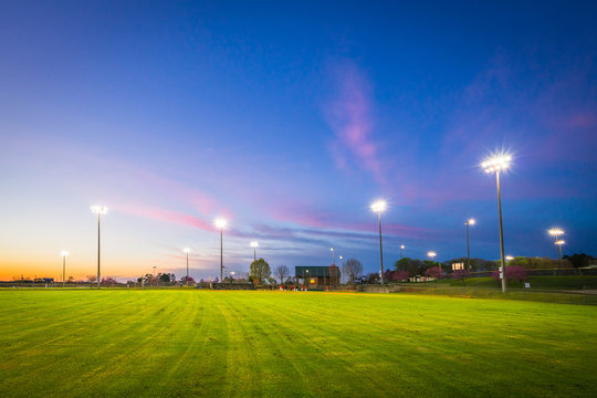 Baseball Field Sunset