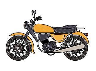 retro motorcycle classic icon