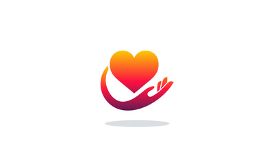 Hearth Care logo concept, Charity logo template vector