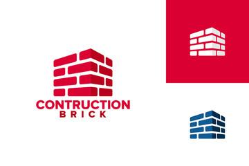 Brick Construction Logo Template Design Vector, Emblem, Design Concept, Creative Symbol, Icon