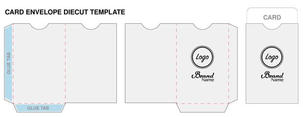 Key Card Envelope Cut Template Mockup Vector