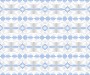 Seamless geometric pattern in gradient blue, white, and black colors. Abstract background texture. Vector illustration, EPS10.