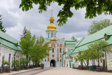 Printed kitchen splashbacks Monument Gate Church of the Trinity of Kyiv Pechersk Lavra, Ukraine