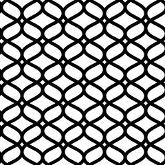 Black and white geometric moroccan ornament abstract lattice seamless pattern, vector