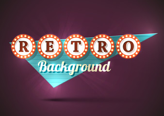 Retro sign background