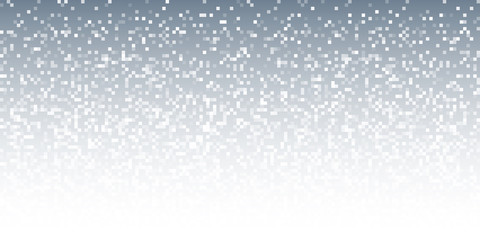 Pixel Abstract Gray Technology Gradient Horizontal Background. Business mosaic light mosaic design backdrop with failing pixels. Pixelated pattern texture. Big data flow vector Illustration.