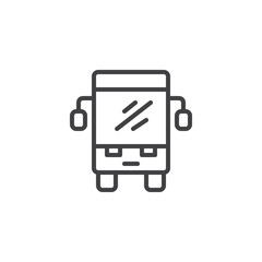 Bus outline icon. linear style sign for mobile concept and web design. Public transport simple line vector icon. Symbol, logo illustration. Pixel perfect vector graphics
