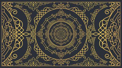 Elegant Golden Lace Texture Background