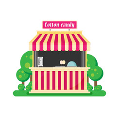 Shop cotton candy flat vector