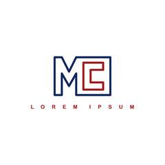 mc alphabet letter art theme logo logotype