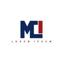 mci alphabet letter art theme logo logotype