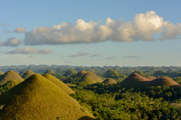 The main attraction of the Philippines - Chocolate hills on Boracay