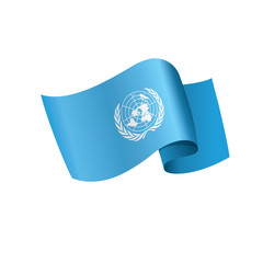 UN flag, vector illustration