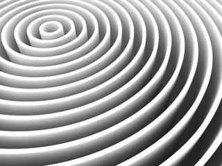 white circle construction. 3D illustration