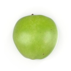 Half Green apple isolated on the white. 3D illustration