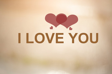 I love you and the background image.