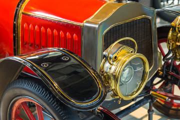 Vintage car - technology background