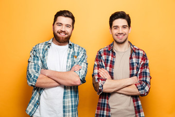 Portrait of a two smiling young men