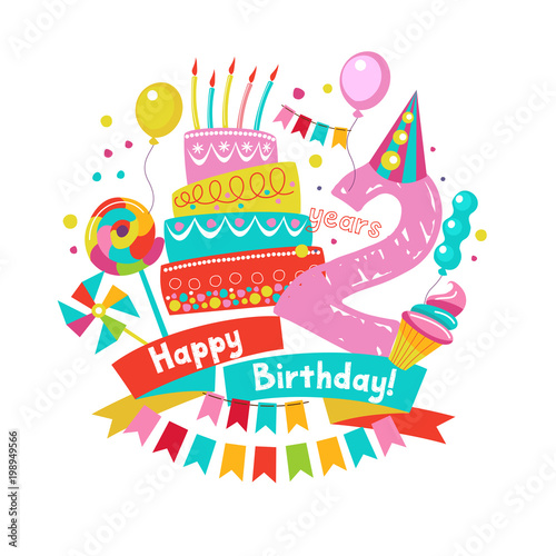 Congratulations On Your Birthday Invitation To A Festive Party 2 Years From The Date