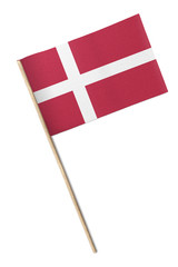 Denmark Small flag isolated on a white background