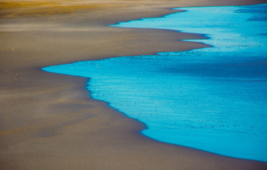 Blue Sea Waves Abstract