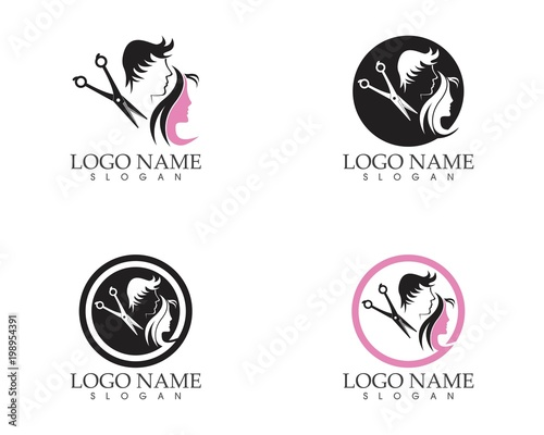 Haircut Style Logo Design Template Stock Image And Royalty Free
