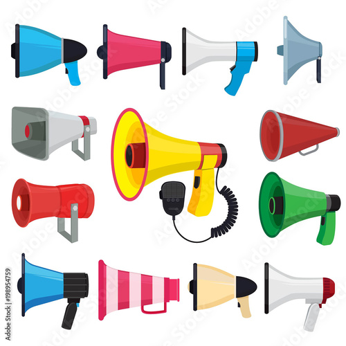 Symbols For Promotion And Announce Vector Pictures Of Loud Speakers