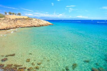 Clear sea bay