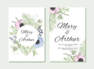 Wedding background with floral elements