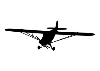 silhouette aircraft with propeller vector