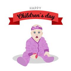 Poster design for Universal children s day illustration