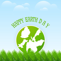 nice and beautiful abstract, banner or poster for Earth Day with nice and creative design illustration in a background.