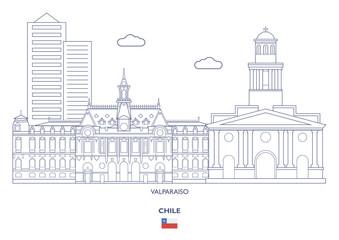 Valparaiso Linear City Skyline, Chile
