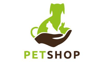 Pet Veterinary Dog Cat Rabbit Hund Katze Haustier Logo Vektor