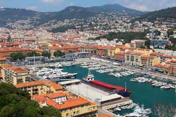 Foto op Plexiglas Nice Port of Nice, Cote d'Azur, France
