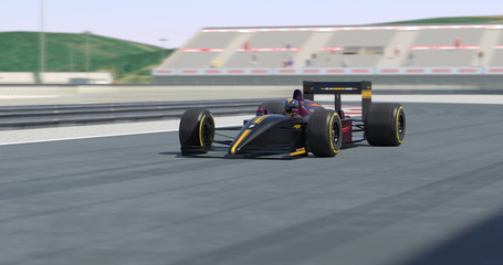 Racing Car Racing - High Quality 3D Rendering