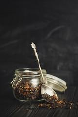 tea - a mixture of tea petals (fresh and dry)
