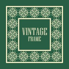Vintage ornamental frame