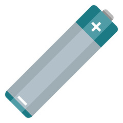 Vector Flat Color AA Type Battery Icon