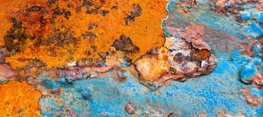 Textura de metal com ferrugem