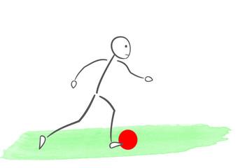Illustration minimaliste d'un joueur de football
