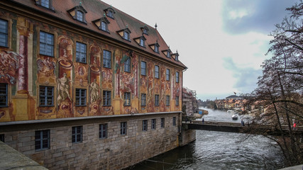 "Historical Building ""Altes Rathaus"" in the central city of Bamberg, Germany."