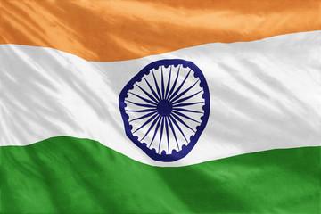 Flag of India full frame close-up