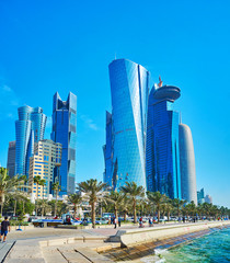 Skyscrapers of West Bay, Doha, Qatar