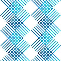 Water color hand painting blue and white,turquoise,navy blue tone colorful seamless background.Herringbone,zigzag pattern design can use for scarf,textile,illustration artwork backdrop.