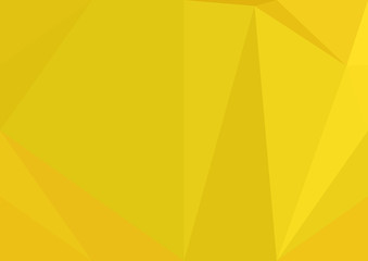 Abstract yellow polygonal texture background. Geometric pattern for graphic design. Can be used as gradient or wallpaper.