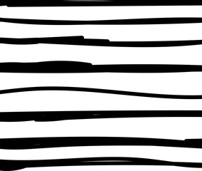 Black and white simple background with handpainted lines and stripes. Striped texture. Stylish design