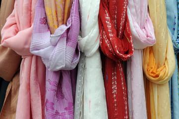 Stoffe, Textilien, Burano, Venedig, Venetien, Italien, Europa