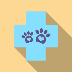 Veterinary Clinic symbol. Animal paw print