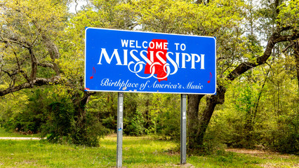Photo sur Aluminium Etats-Unis Welcome to Mississippi sign